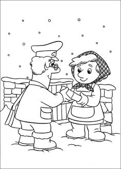 Postmann Pat Fargelegging. Tegninger 10