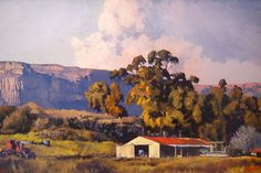 Ted Hoefsloot - Farm Near Clarens x South African Art, African Artists, Landscape Art, Ted, Art Gallery, Scene, Art Ideas, Landscapes, Drawings