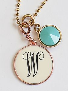 Personalized charm jewelry necklace kids names initial engraved jBloom Kayla cariveau