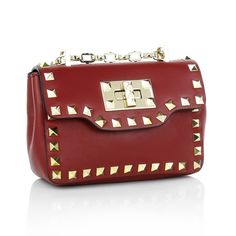 After Work we love to wear Valentino! <3 Rockstud Chain Bag Small Scarlet Cross Body Bags by Fashionette