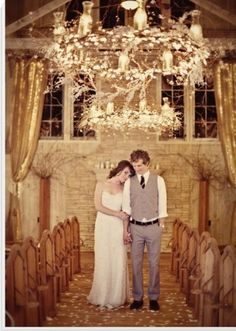 I've never wanted an indoor wedding, but I could do with this.