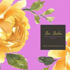 New yellow rose clip art in my Etsy shop. Bee Balm  #clipart #watercolorpainting #watercolor #roses #etsyseller #etsyshop #flowergraphy #floral Art Diary, Yellow Roses, Twine, The Balm, Watercolor Paintings, Etsy Seller, My Etsy Shop, Bee, Clip Art