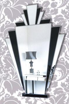 Babushka Fan Art Deco Wall Mirror, exclusively available at http://www.mirrormania.co.uk/babushka.html