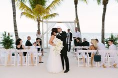 black and white wedding at the Cheeca Lodge & Spa / photo by careweddings.com , Our Couple rachel & Gianni