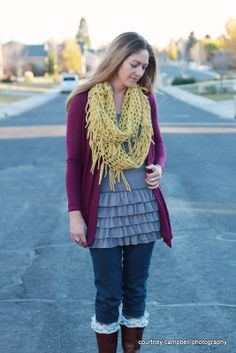Bring on the Frill Layering Skirt-Gray