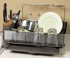 A Workhorse Drain Rack that Looks Good, Too - Product - FineCooking Dish Racks, Tiny Spaces, Kitchen Organization, Kitchen Tools, That Look, Number, Dishes, Organize, Base