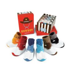 Baby Cowboys Colorful Boots Sock Set Of Six - Western, Country, Wild West, Fun, Cute | UncommonGoods