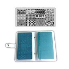 17Pcs Summer Flower Nail Art Image Stamping Plate Nail Stamp DIY Tips Polish Template Set 16Plate+1Pc 20 Slots Plate Holder/Case