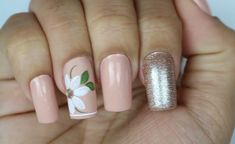 Shellac Nails, Manicure And Pedicure, Acrylic Nails, Hair And Nails, My Nails, Tulip Nails, Floral Nail Art, Gorgeous Nails, Mani Pedi