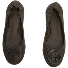 Pre-owned Tory Burch Marble Balck And Brown Flats ($113) ❤ liked on Polyvore featuring shoes, flats, marble balck and brown, tory burch, tory burch footwear, pre owned shoes, brown flat shoes and brown shoes