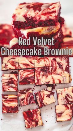 Hey brownie lovers, this recipe is for you. These red velvet cheesecake brownies have a rich and fudgy brownie base with a swirl of tangy, creamy, sweet cheesecake. Because my family doesn't eat eggs, I have made these without eggs. Red Velvet Cheesecake Brownies, Eggless Baking, Fudgy Brownies, Valentine Treats, Cheesecakes, Spice Things Up, Baking Recipes, Recipies, Eggs