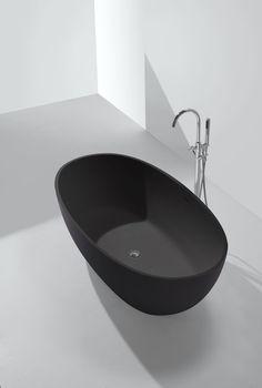 Mineralguss-Badewanne DUCTILO-schwarz (freistehend)