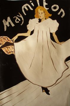 """Henri de Toulouse-Lautrec (1864-1901) : """" May Milton """" , 1895 , colour lithograph  , 78,1x59,7 cm , many museums as Philadelphia Museum of Art /  / Exhibition at Magnani-Rocca Foundation , near Parma, 2011 . May Milton english dancer ,after just one winter on the Paris stage , departed for New York ; This poster was designed for her american tour . She was friend-lover of Irish singer May Belfort ."""