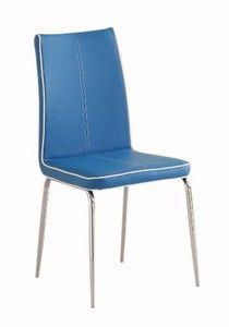 Homelegance 2533BUS Side Chair Upholstered, Blue, Set of 2