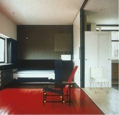 Rietveld Schroder House with modern living room