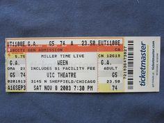 Ween, Vic Theatre, 11/8/2003, 23.50