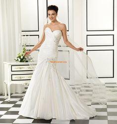 Col en cœur Brillant & Séduisant Sans manches Robes de mariée 2014