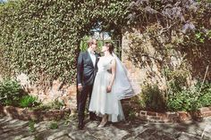 Rachel in her bespoke designed 1950s inspired wedding dress. Polka dot tulle with a high low hem made it contemporary and very cool! She looked amazing in it. One of a kind.