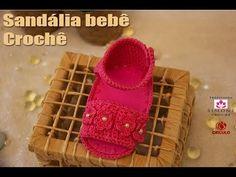 Sandalia de Crochê Moranguinho - Professora Simone - YouTube