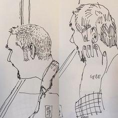 Sketch rápido comparado con sketch ultra rápido. Ambos in situ. Cuál te gusta más?  Fast in situ sketch versus ultra fast sketch. Which do you prefer ?  #petxina #people #fastsketch #usk #urbansketchers #urbansketching #ultrafast #lamy @lamy.es #noodlersink #tonin #faces #caras #gente #piscina #watching