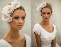 Triple Rose  Bridal by MaggieMowbrayHats on Etsy, £175.00
