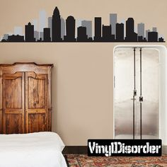 Hey, I found this really awesome Etsy listing at https://www.etsy.com/listing/199201345/charlotte-nc-skyline-vinyl-wall-decal-or