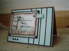 CC171 Pieced Lighthouse by sugrnspicy - Cards and Paper Crafts at Splitcoaststampers