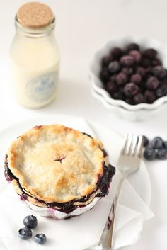 miniature blueberry pies.