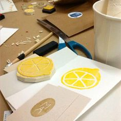 Nice and easy stamp #diy #lemon #etsylabs