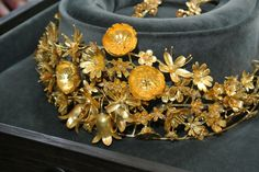 Queen Margrethe II of Denmark receives tiara made from Greenlandic gold - as a present for her 40 years on the throne