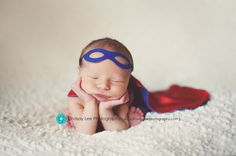 Newborn Superhero CAPE and MASK set - Reversible Personalized Photography Prop for Infant and Baby. $44.00, via Etsy.