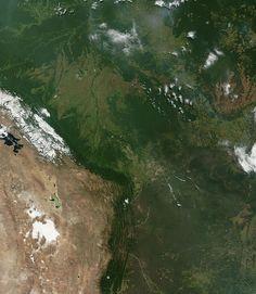 Satellite image of Bolivia in June 2002