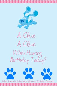 blues clues birthday party theme. #blues clues #birthday #party #theme #invitation #wordings