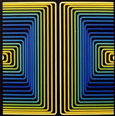 Victor_Vasarely blue yellow green