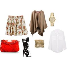 A fashion look from October 2014 featuring white blouse, burberry poncho and floral skirts. Browse and shop related looks. Floral Print Skirt, Floral Prints, Burberry Poncho, Printed Skirts, Fashion Looks, Blouse, Polyvore, Shopping, Floral Patterns