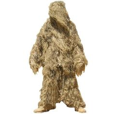 The Condor desert ghillie suit features a three piece with fire retardant PP fur and several shades of dye for paintballers, military, and hunters to blend into their surroundings. Suit Stores, Ghillie Suit, Tactical Clothing, Tactical Gear, Desert Colors, Desert Camo, Suits For Sale, Kids Suits, Hunting Accessories