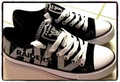 Raiders Converse....I freakin need these in my life...right now!