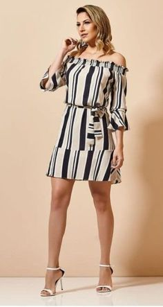 Vestidos lindos - Your Tutorial and Ideas Casual Wear, Casual Dresses, Short Dresses, Summer Dresses, Big Girl Fashion, Womens Fashion, Dress Outfits, Fashion Dresses, Flare Dress