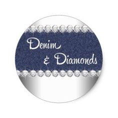 Denim And Diamond Cake