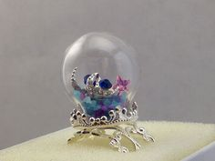 Hey, I found this really awesome Etsy listing at https://www.etsy.com/listing/178654251/moon-and-stars-snow-globe-ring-free-us
