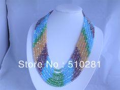 NEW DESIGN!!! FASHION & Luxury CRYSTAL NECKLACE African wedding bridal jewelry $50.12