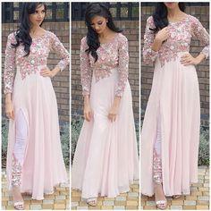 FatimaBi Plus size Fashion Indian Embroidery Party Baby Pink Anarkali Kameez Dre Anarkali Dress, Red Lehenga, White Anarkali, Pakistani Outfits, Indian Outfits, Stylish Dresses, Fashion Dresses, Maxi Dresses, Party Kleidung