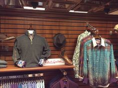 Robert Graham shirts with Johnston & Murphy boots