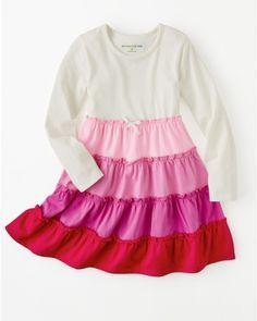 Twirly Tiered Knit Dress - Girls - Garnet Hill