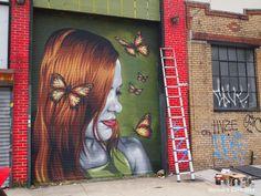 "Mr. Prvrt – ""Butterfly Effect"" – Bushwick Collective – Brooklyn, NYC"