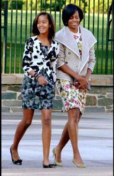 Milia and Michele Obama