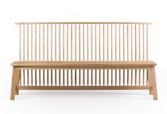 Bench with back 444 designed by Ilse Crawford at twentytwentyone