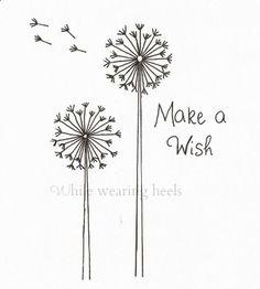 FREEBIE!!!While Wearing Heels: Make a Wish Dandelion Embroidery Pattern pusteblume spruch