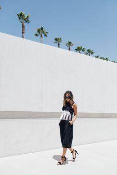 Aimée Song - Super by Retrosuperfuture Gals Thick Frame Sunglasses Tibi Macrame Applique Crop Top The Fifth Minds Wonder Pants Celine Bow Sandals Celine Mini Box Bag  Photos by Christina Choi