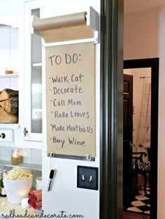 DIY Paper Roll Message Board - Redhead Can Decorate